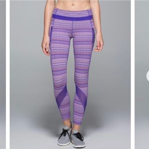 Lululemon Inspire Tight Purple Space Dye